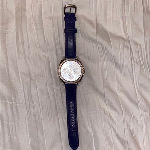 coach navy blue/ silver watch